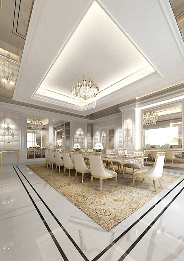 Design e luxo em dubai tempo da delicadeza for Luxury dining room design ideas