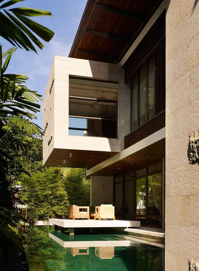 Uma casa tropical em Singapura