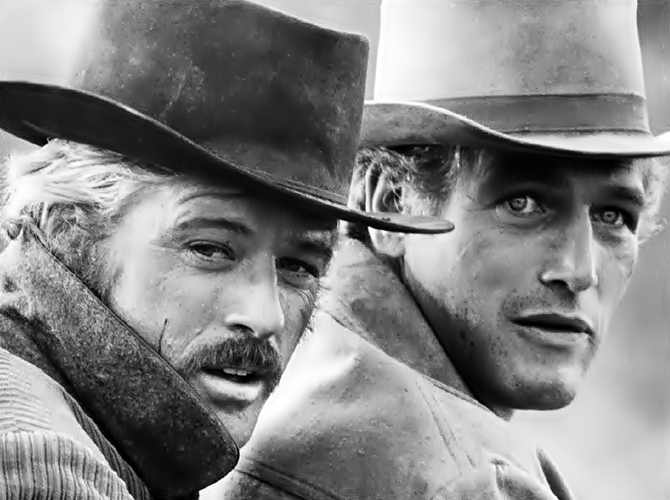 Butch Cassidy and the Sundance Kid - Robert Redford and Paul Newman